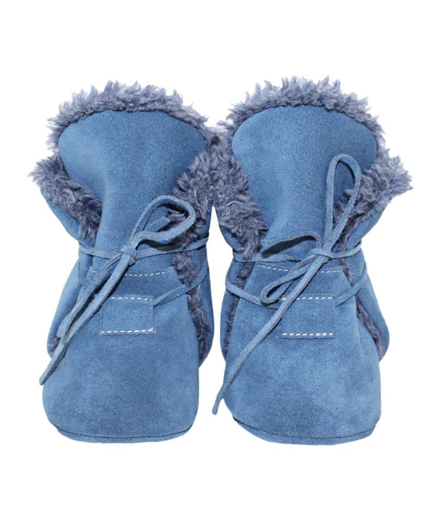 cuir Bottine bleue Chaussons souple en TKFJlc1u3